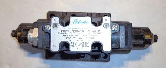 COLUMBIA HYDRAULIC VALVE, MODEL 350414 70X410 or 350416 51X410