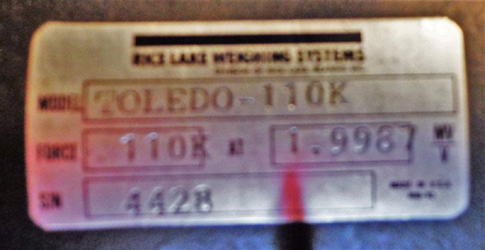 TOLEDO LOAD CELL TOLEDO-110K