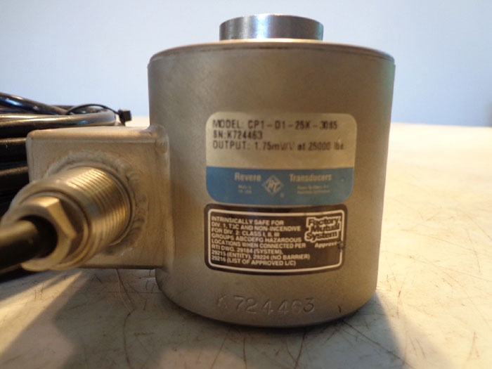 REVERE TRANSDUCERS CP1-25K LOAD CELL