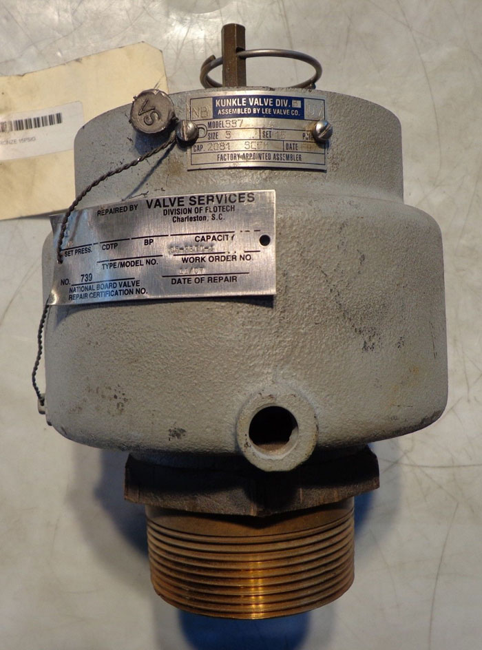 "KUNKLE 3"" BRASS VALVE MODEL 337"