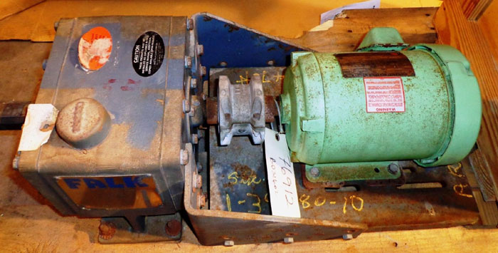 FALK ENCLOSED GEAR DRIVE 1020F  2A W/ US MOTORS HIGH EFFICIENCY MOTOR