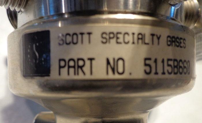 SCOTT SPECIALTY GAS PRESSURE GAUGE - MODEL: 51-15B