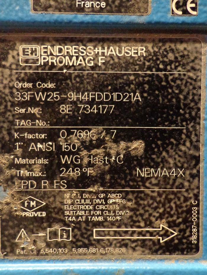ENDRESS & HAUSER PROMAG F   33FW25-9H4FDD1D21A