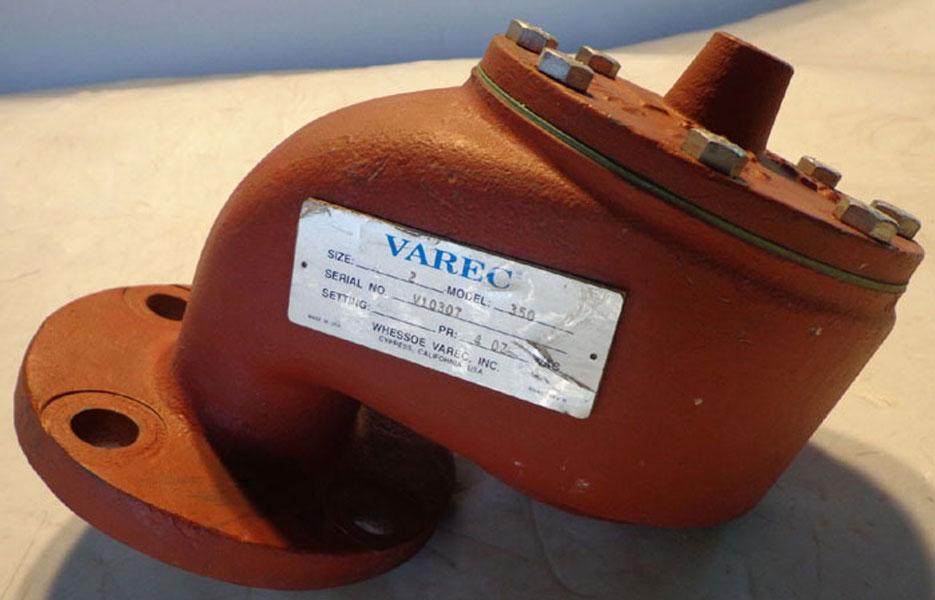 """VAREC 2"""" VACUUM RELIEF VALVE 350"""