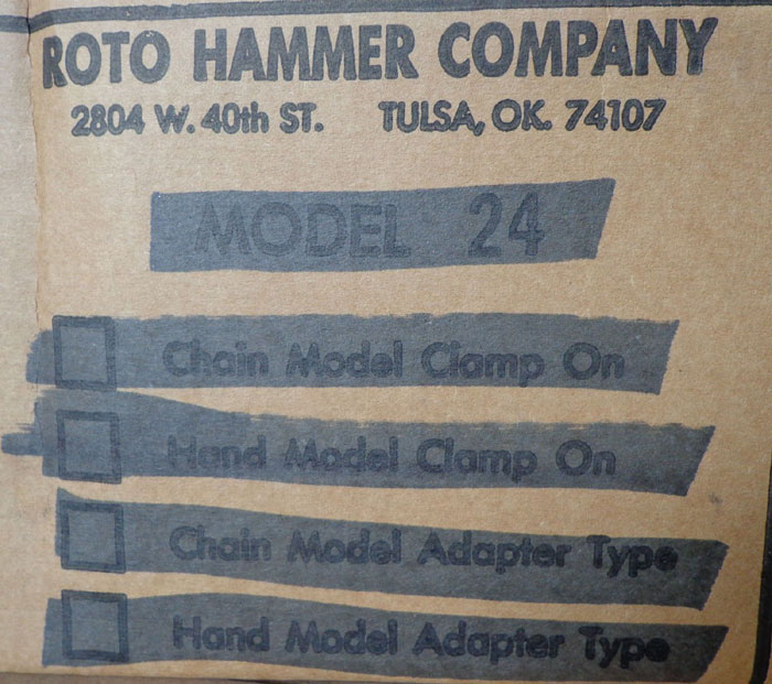 LOT OF (21) BOXES OF ROTO HAMMER RETROFIT CHAINWHEEL CHAIN GUIDE - MODEL 24