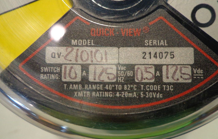 LOT OF (3) PROXIMITY QUICK-VIEW ROTARY POSITION INDICATOR/SWITCH