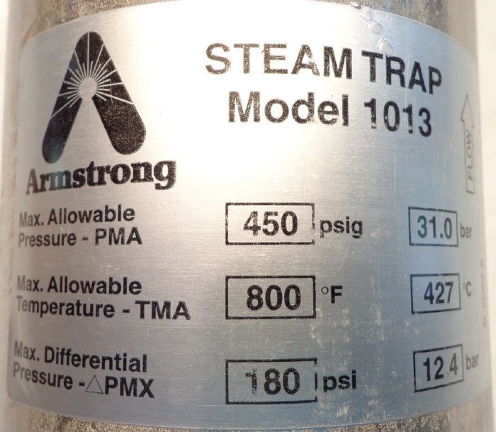 ARMSTRONG INVERTED BUCKET STEAM TRAP 1013