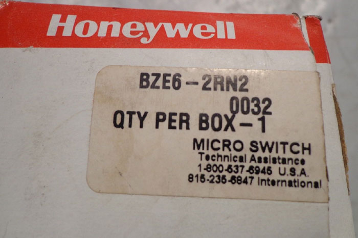 HONEYWELL MICROSWITCH SENSING & CONTROL BZE6-2RN2 - LOT OF (3)