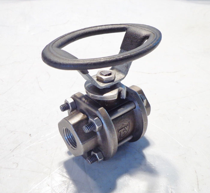 "TBV 3 PIECE 1/2"" THREADED BALL VALVE - HASTELLOY C"