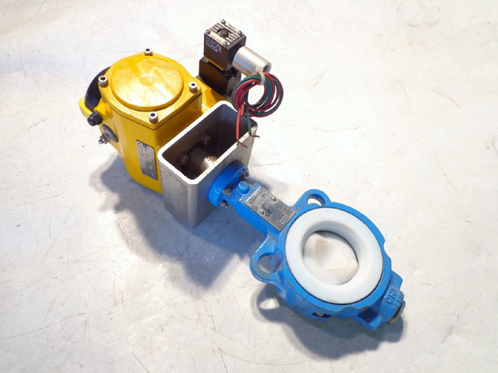 "EBRO ARMATUREN 2"" 150# WAFER BUTTERFLY VALVE T211 w/ EMERSON FIELD Q ACTUATOR"