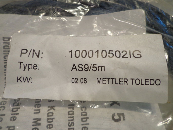 LOT OF (8) METTLER TOLEDO HT/ST KOAX5 CABLES - P/N 1000103021G