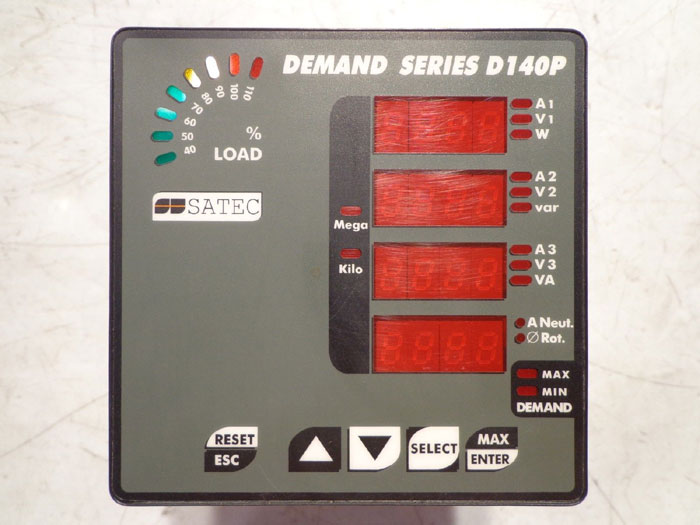 SATEC DEMAND SERIES D140P - MODEL D140P-U-5-ACDC-A4