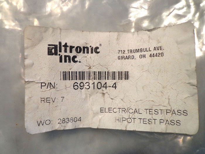LOT OF (3) ALTRONIC CABLES CA3106ER14S-5S  693104-4  693104-5
