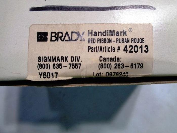 LOT OF (2) BRADY POWERMARK 13538 WHITE VINYL TAPE CARTRIDGE & 42013 RED RIBBON