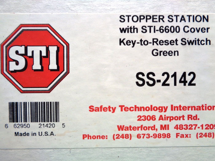 STI STOPPER STATION SS-2142 w/ STI-6600 COVER