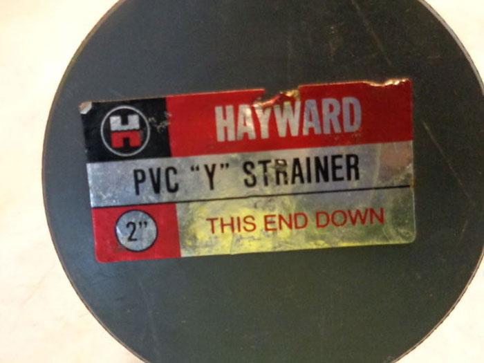 "LOT OF (2) HAYWARD PVC ""Y"" STRAINERS"