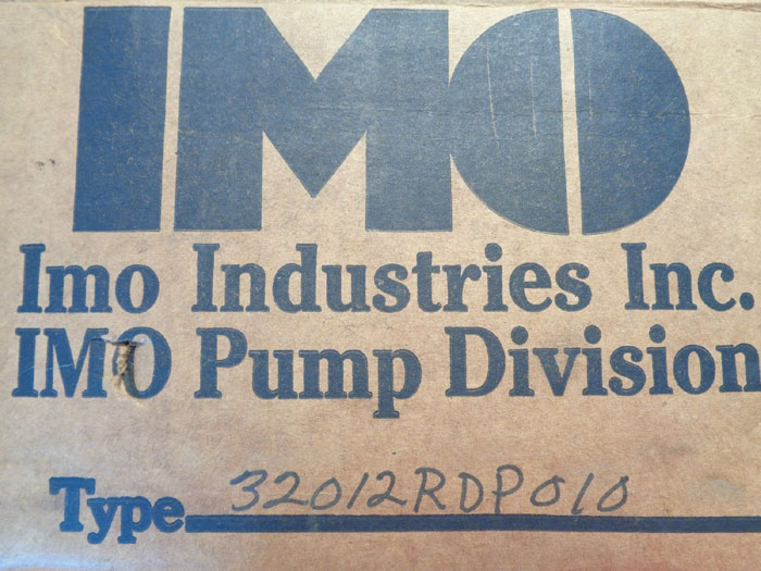 IMO DELAVAL PUMP - TYPE: 32012RDP010