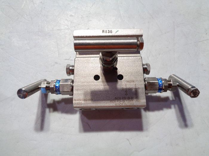 "PGI 3-VALVE 1/2"" MANIFOLD M-650S6G-W9"