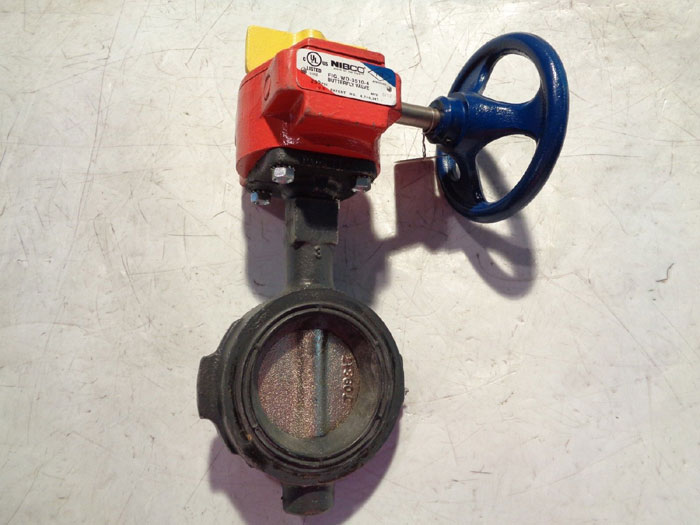 "NIBCO 3"" WAFER BUTTERFLY VALVE W/ FIRE CONTROL, FIG#: WD-3510-4"