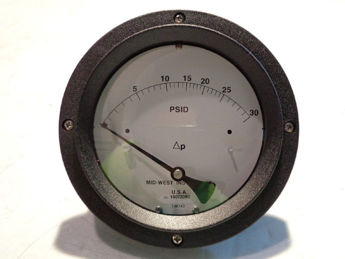 MID-WEST FILTER MINDER PRESSURE GAUGE 120SA-00-O(JA)