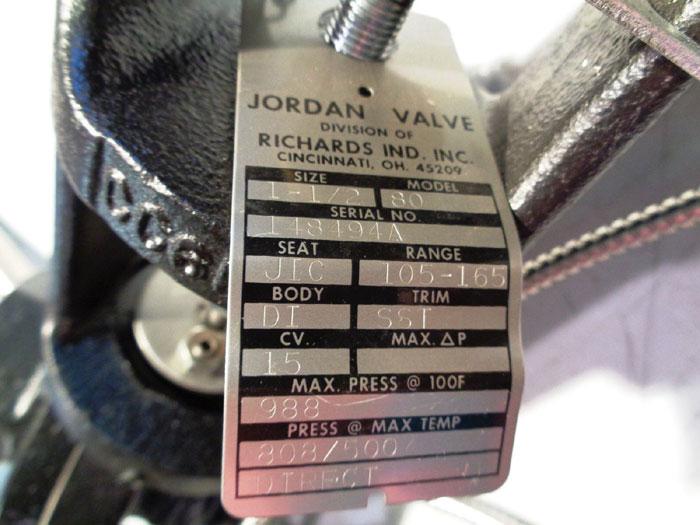 """JORDAN TEMPERATURE REGULATOR - MODEL 80 - SIZE 1.5"""""""