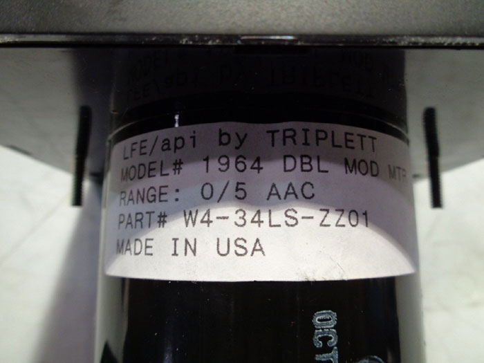 LFE API TRIPLETT METER RELAY CONTROLLER, MODEL#: 1964 W/ RELAY DOUBLE SET POINT