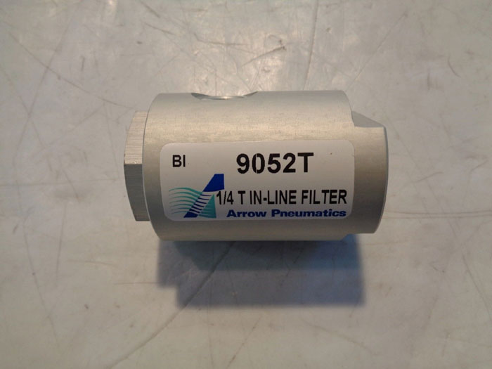 "LOT OF (4) ARROW PNEUMATICS 1/4"" T IN-LINE FILTER 9052T"