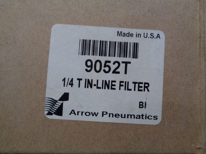 "LOT OF (4) ARROW PNEUMATICS 1/4"" T IN-LINE FILTER 9052T"