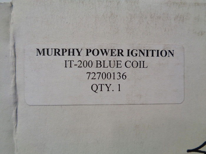 MURPHY POWER IGNITION IT-200 BLUE COIL 72700136