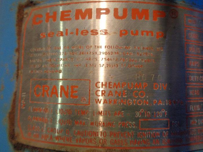 CRANE CHEMPUMP GVF-20K-23H-3T