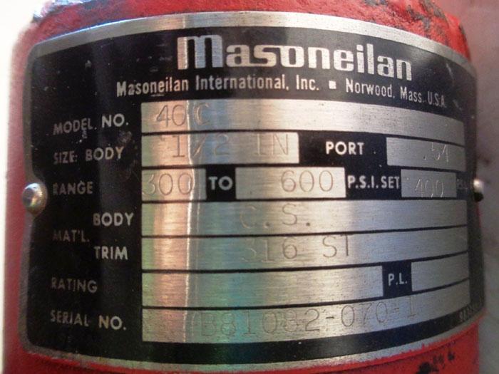 MASONEILAN PRESSURE REGULATOR - MODEL 4C