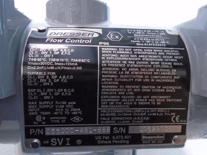 DRESSER / MASONEILAN SVI 055000-481-888 DIGITAL POSITIONER & CONTROLLER