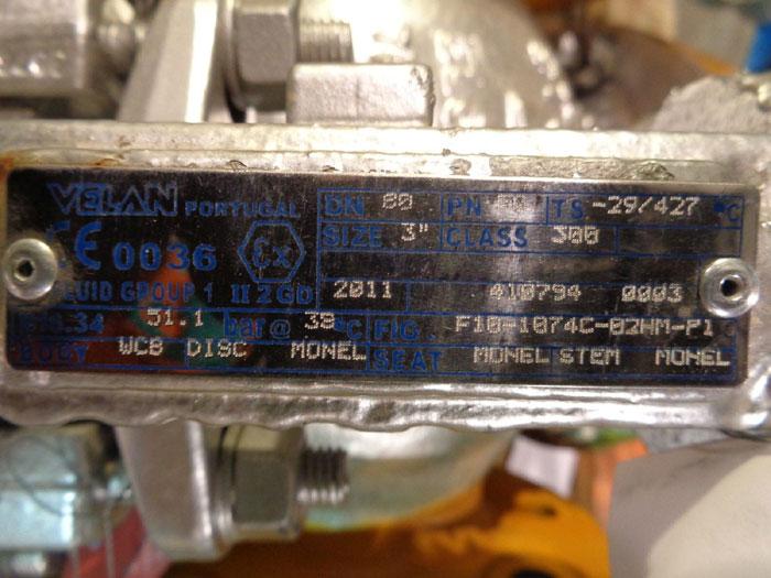 "VELAN GLOBE VALVE 3"" 300# W/ MONEL, FIG#: F10-1074C-02HM-P1"