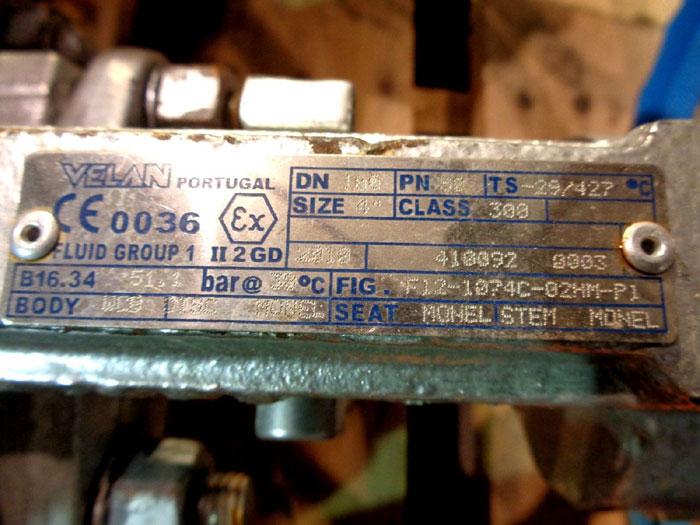 "VELAN GLOBE VALVE 4"" 300# W/ MONEL, FIG#: F12-1074C-02HM-P1"