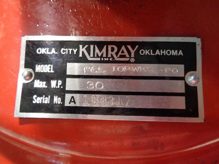 "KIMRAY PRESSURE REGULATOR PART#: C 4548-100, MODEL#: 1"" 65 TOPWKS-P0"