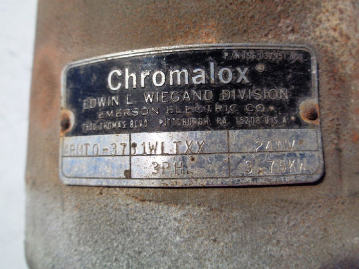 CHROMALOX IMMERSION HEATER ARMTO-3701WLTXX