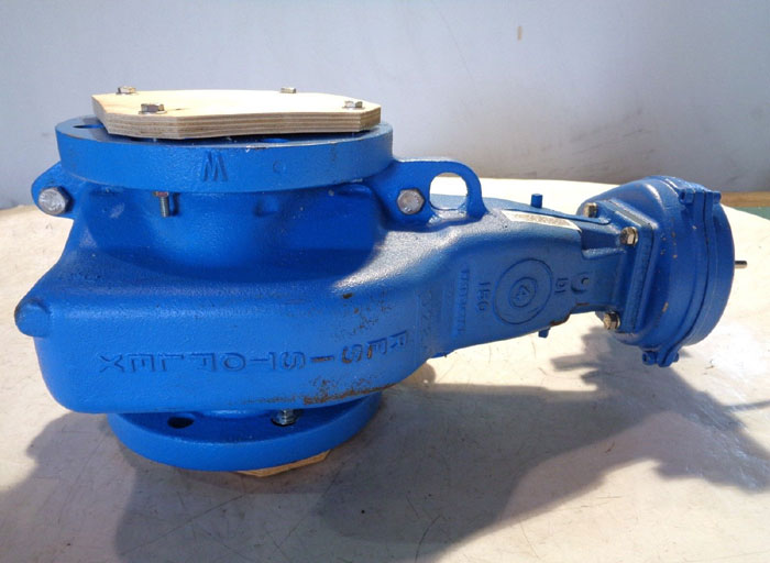 """RESISTOFLEX 4"""" GEAR OPERATED TFE POSITION STOP VALVE VC70M1VV0N400"""