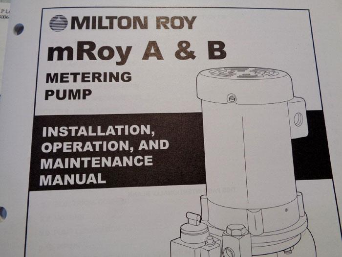 MILTON ROY A&B METERING PUMP RH1577FRSESEM2NN /W MOTOR