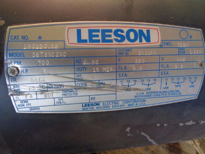 CLYDE BERGEMANN INC LEESON COUPLER BRAKE w/ MOTOR 1056714051QF