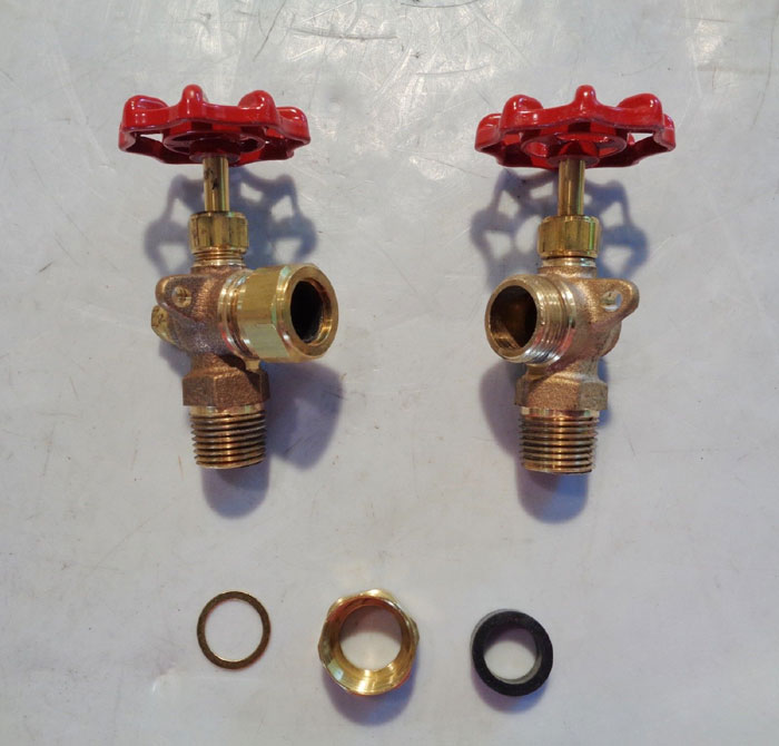 "LOT OF (2) PAIRED 1/2"" APOLLO WATER GAUGE VALVE 20-150-03"