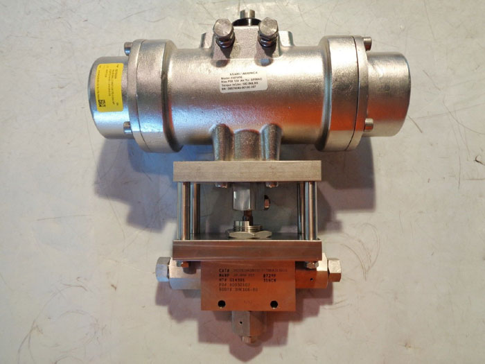 BUTECH HASKEL STAINLESS ACTUATED BALL VALVE 3HDVK206BN181817BRA31SRSS & DS79PS