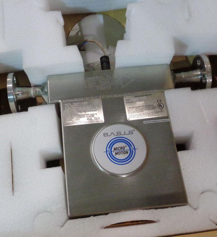 MICRO MOTION MASS FLOW SENSOR F025SI113SU