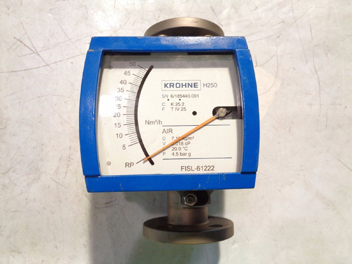 "KROHNE 1"" 150# VARIABLE AREA FLOW METER H250"