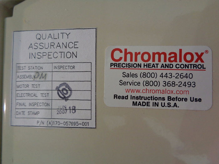 CHROMALOX CONVECTION AIR HEATER CAT#: CVEP-C-36-43-00-00, PART#: 003-304647-907