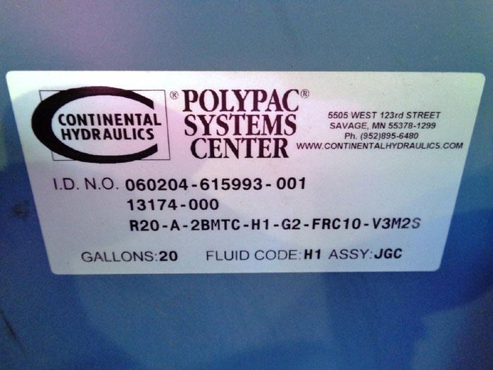 CONTINENTAL HYDRAULICS POLYPAC PUMP SYSTEM R20-A-2BMTC-H1-G2-FRC10-V3M2S