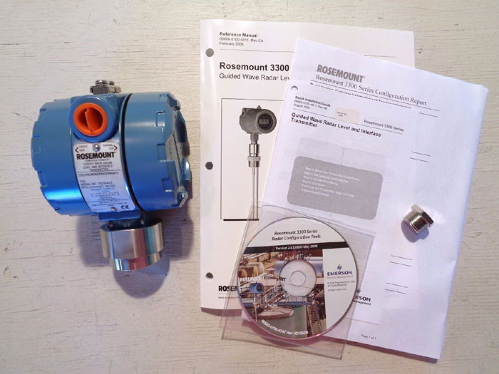 ROSEMOUNT GUIDED WAVE RADAR LEVEL & INTERFACE TRANSMITTER 3301HA1N0N9RN0000NAE5