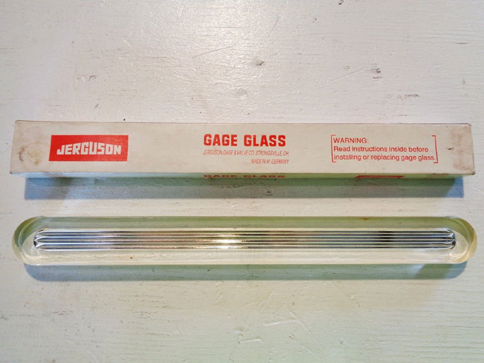 "LOT OF (3) JERGUSON GAGE REFLEX SAFETY SIGHT GLASS 8"""