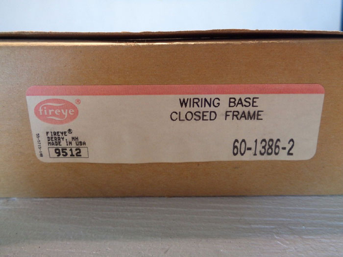FIREYE WIRING BASE CLOSED FRAME 60-1386-2