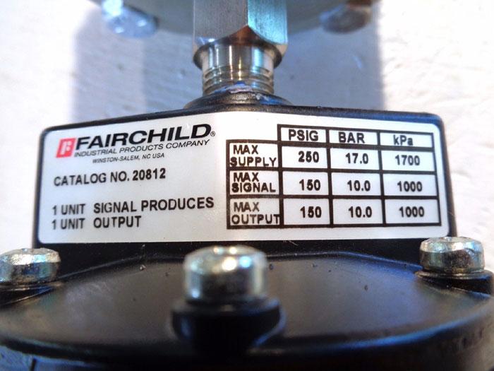 RJ GLOBAL THREADED OFFLINE DIAPHRAGM SEAL TW29.A3452 W/ FAIRCHILD VOLUME BOOSTER