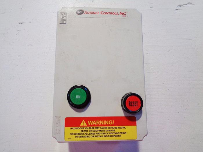 ADVANCE CONTROLS INC. SINGLE PHASE STARTER 119968